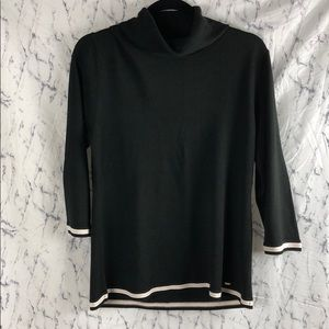 Tommy Hilfiger Black Sweater w/ Pink White Stripe